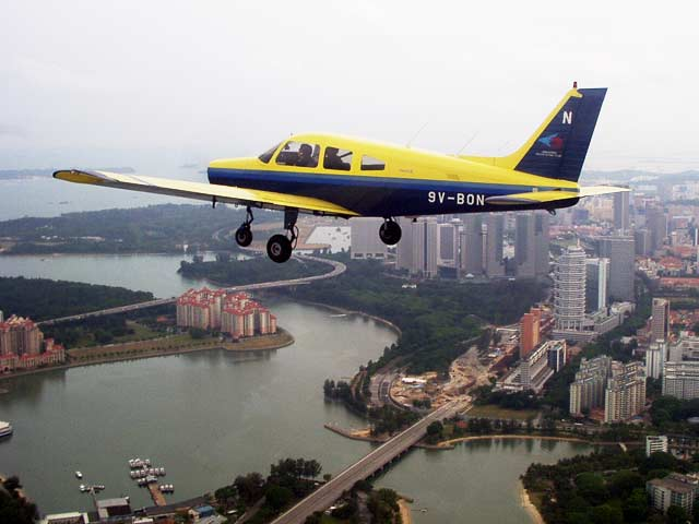 ferry flights Piper PA-28