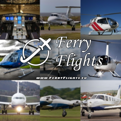 Ferry flights airplanes helicopters